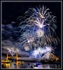 Fireworks_7693 (bjarne.winkler) Tags: 2017 new year firework over sacramento river with tower bridge ziggurat building background