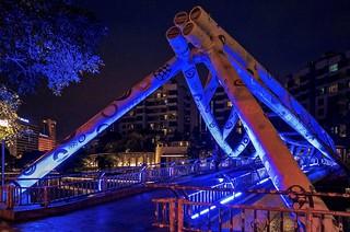 Alkaff Bridge by night