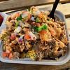 Da' Situation loaded tater tots from Hula Truck (Fuzzy Traveler) Tags: tatertots cheese kaluapork picodegallo onions tomatoes pork hulatruck foodtruck sparksocialsf food sanfrancisco missionbay hawaiian