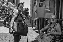 Market Street, 2017 (Alan Barr) Tags: philadelphia 2017 marketstreet marketstreeteast marketeast street sp streetphotography streetphoto blackandwhite bw blackwhite mono monochrome candid city people fujifilm fuji x70