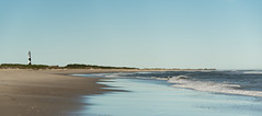 A Day At The Beach (riqwammy) Tags: northcarolina capelookout lighthouse beach shore ocean water waves sand sky outside outdoors recreation hike walk nikon d750