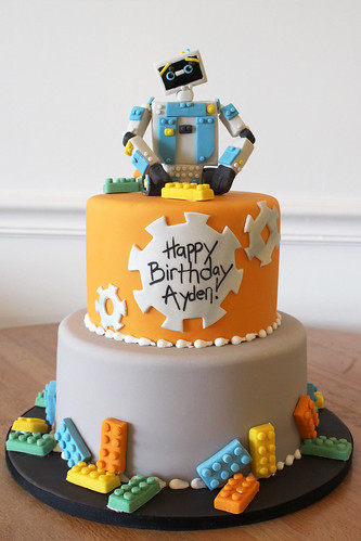 Lego Robot Maker Birthday Cake