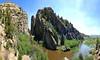 through devils gate (sculptorli) Tags: rock river sweetwater devilsgate antecedent granite gorge natrona wyoming unitedstates rivergorge drainagestream reflection
