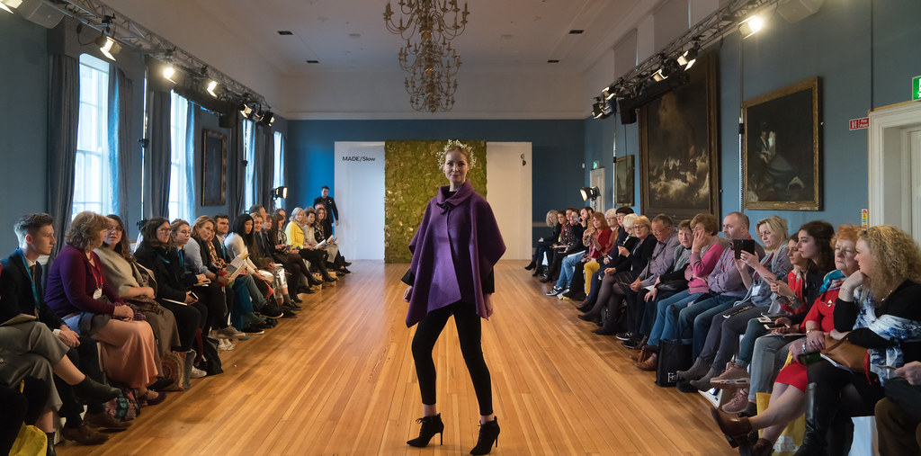 MADE-Slow PRESENTATION OF QUALITY IRISH FASHION DESIGN - STUDIO DONEGAL [FASHION SHOW AT THE RDS JANUARY 2018]-136237