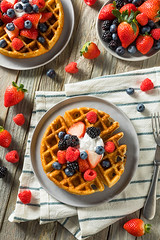 Sweet Homemade Berry Belgian Waffle (brent.hofacker) Tags: background baked bakery belgian belgianwaffle belgium berry berrywaffles blueberry breakfast calories cream crispy delicious dessert food fresh fruit golden gourmet healthy homemade morning pastry raspberry red roundwaffle sauce snack strawberry sugar sugary sweet syrup tasty wafer waffle waffles warm yummy