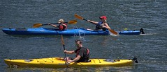 Family Outing (swong95765) Tags: people family woman man kid kayak paddle river water sunshine exercise
