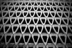 Blind Side (Douguerreotype) Tags: london geometric monochrome uk blackandwhite abstract british buildings mono geometry city architecture britain urban gb bw england