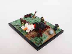 Part 1. Bombardo Maxima! (Dwalin Forkbeard) Tags: lego moc history medieval gun powder bang fantasy artillery war siege castle vignette soldier