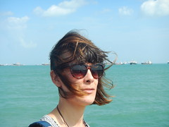 034/365: out to sea (lost in thought) (Michiko.Fujii) Tags: ofme selfportrait selfstudy outtosea watersedge eastcoast onthebeach thedeepbluesea southchinasea sunglasses