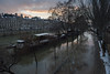 Snow and Floods (MrBlackSun) Tags: pontmarie paris floods flood snow inondation péniche peniche nikon d810 sunset dusk