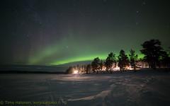 5.2..2018 auroras 7.30pm (Hotel Korpikartano) Tags: auroraborealis northernlights northernfinland revontulet korpikartanofi menesjarvi inarilapland laplandfinland winter