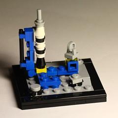 LL-920 nano style (olivgrau) Tags: lego moc ll 920 classic space nano miniature bricks plates rocket brickset60yearscompetition