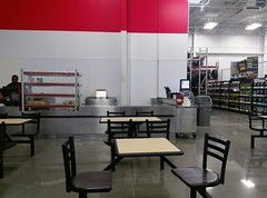 "Another view of the new café seating, and temporary ""hot dog stand""! (l_dawg2000) Tags: 2017remodel apparel café desotocounty electronics food gasstation meats mississippi ms pharmacy photocenter remodel samsclub southaven tires walmart wholesaleclub unitedstates usa"