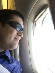 Looking out the window (Khunpaul3) Tags: thai airways b777200er hstjt tg621 aircraft aeroplane airplane aviation boeing royal silk class avgeek selfie window seat