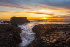 Golden Sky (naturepixelsphotography) Tags: ifttt 500px sky dramatic colorful golden water ocean sea falaisis rocks rocky orange yellow california santa cruz davenport seascape stack longexposure long exposure patterns cliff