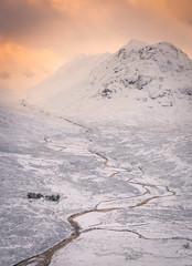 Golden threads (chrismarr82) Tags: nikon scotland sunrise glencoe snow winter