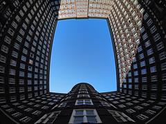 Sprinkenhof Hamburg (madbesl) Tags: hamburg deutschland germany europa europe sprinkenhof kontorhaus architecture fisheye walimex himmel sky fenster windows olympus omd em10 m10 omdem10 walimexfisheye mft