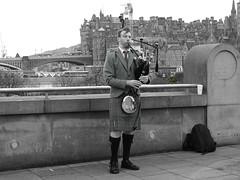 Piping on a windy day (__SRD_) Tags: bagpipes piper scotland edinburgh city music musician kilt scottish colourpop colorpop bus