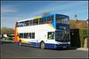 18175, Minnis Road (Jason 87030) Tags: dennis trident stagecoach margate thanet kent sunny light decker bus alx400 18175 gx54dvu 33 birchington minnis road shot camera vehicle red white blue oramge 2018 break february