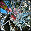 Riding The Cyclone (MPnormaleye) Tags: square utata rollworld patterns design fantasy dream fun urban coneyisland boardwalk midway amusementpark carnival ride rollercoaster