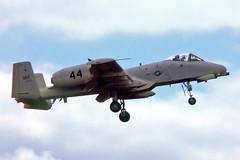 75-0293   Fairchild A-10A Thunderbolt II [42] (United States Air Force) RAF Mildenhall~G 27/05/1977 (raybarber2) Tags: 42 44 750293 approachtodo cn42 codeddm44 egun flickr jetaircraft jetfighter slide usamilitary