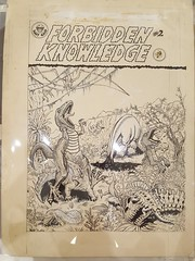 """""""FORBIDDEN KNOWLEDGE"""" ADULT COMIC BOOK COVER ART BY PETE VON SHOLLY.  $450. • <a style=""""font-size:0.8em;"""" href=""""http://www.flickr.com/photos/51721355@N02/39626519551/"""" target=""""_blank"""">View on Flickr</a>"""