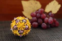 Alina kusudama (ronatka) Tags: kusudama modularorigami mashaathanasiadi rectangle yellow pink ef50mmf18stm inexplore