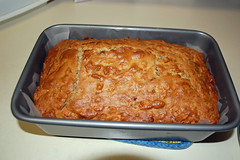 Banana Bread. (dccradio) Tags: lumberton nc northcarolina robesoncounty bread quickbread bananabread breadpan pan cooling kitchencounter indoors inside nikon d40 dslr food eat snack dessert sweet treat