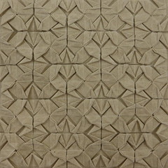 Sharpened Square Interlace Tessellation (Michał Kosmulski) Tags: origami tessellation weave interlace pattern texture handmadepaper michałkosmulski tan brown beige buff