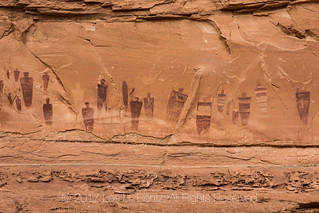 Great Gallery Panel of Barrier Canyon Style Pictographs in Horseshoe Canyon