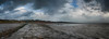 Looking back along the walk way at Thurstaston (jimmedia) Tags: thurstaston river clouds storm coastal coastline dee sea weather jetty path waves current sky hill wirral mersey winter