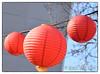 Paper lanterns (myphotomailbox) Tags: rotterdam netherlands westkruiskade outdoor lampu lampion red blue