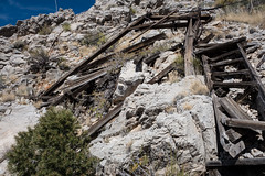 Collapsed Headworks (joeqc) Tags: mine mnp mojave mojavepreserve sony rx100ii rx100m2 rx100mii taylor ore chute clark mountain