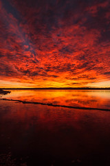 Morning Rush (mclcbooks) Tags: sunrise dawn daybreak beach lake reflections clouds lakechatfield chatfieldstatepark colorado landscape