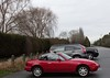 Miata parked at destination January  10th  2018 (D70) Tags: mid winter outing 30 kms each way topless mazda miata mx5 sports car zoomzoom sony dscrx100m5 88257 mm f1828 ƒ40 139mm 1250 125