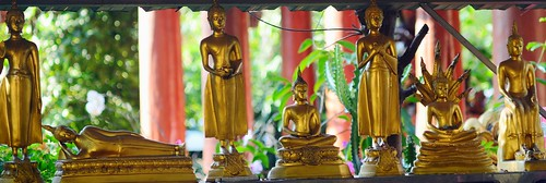 buddhist statues in Chiang Mai temple