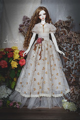 Ancient Dahlia (AyuAna) Tags: bjd ball jointed doll dollfie ayuana design minidesign handmade ooak clothing clothes dress set outfit fantasy romantic style lace sewing crafting sd sd10 sd13 size sadol love60 yena whiteskin