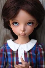 Teagan (AluminumDryad) Tags: fairyland minifee mnf ante msd slimmini bjd balljointeddoll doll resin tanskin freckles portrait plaid kosucas