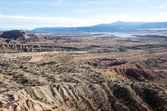 from the Chimney Rock Trail, with Abiquiu Lake in the distance (Paul and Jill) Tags: chimneyrocktrail ghostranch abiquiu newmexico