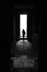 (cherco) Tags: lonely solitario solitary silhouette silueta shadow sombra shadows stairs sombras woman mujer temple templo indonesia loner aloner alone arquitectura architecture arch blackandwhite blancoynegro yogyakarta exit salida mystery