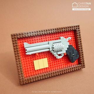nanoblock Pistol in Display Case
