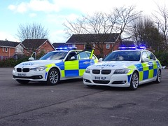 West Midlands Police BMW 330d Traffic Cars BV16 PXZ (OPS189) and BX12 HLP (FSPL110), Birmingham. (Vinnyman1) Tags: west midlands police car bmw 330d bv16 pxz ops189 bx12 hlp fspl110 fleet services park lane spare road traffic policing wmp rpu roads unit anpr automatic number plate recognition cctv closed circuit television enabled birmingham city centre england uk united kingdom gb great britain emergency rescue 999 the championship second derby avfc aston villa football club villains bcfc blues zulu warriors youth hardcore steamers ccrew