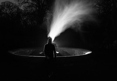 Black & Light Painted #3 (Rob Pitt) Tags: light painting eastham ferry night fountain wirral tokina 1116 victorian long exposure park tree blackwhite torch vape 750d canon spooky
