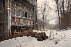 Seeking Asylum (drei88) Tags: lost empty vacant neglect memories atmosphere cold barren desolate windswept peril inadequate bleak grim dreary drab forlorn fleeting mist fog february weathered shattered broken endphase childhood energy seeking