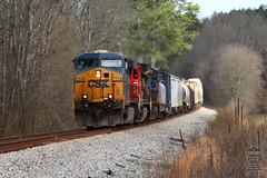 CSX Q211-23 (Steve Hardin) Tags: cn canadiannational csx wa westernatlantic railway railroad railfan manifest freight autorack train kingston georgia es40dc c408 standardcab c408w railroadcrossing