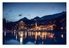 St. Moritz at Night, Engadin, Switzerland (Nils Leonhardt) Tags: nikon nikond810 dämmerung switzerland sunset bluehour sigma sigmaart sigma35mm village stmoritz engadin graubünden night sky himmel mountain berg bergdorf mountainvillage alps alpen gebäude architecture