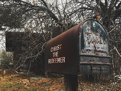 Christ The Redeemer : Abandoned Church (Abandoned Illinois) Tags: mailbox exploring urban rural rurex urbex decay gritty clutter trees creepy rusty rust old lord church house abandoned abandonedillinois