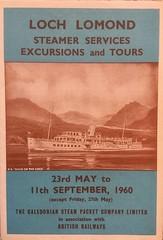 "1960 brochure for ps ""Maid of the Loch"" on Loch Lomond. (calderwoodroy) Tags: excursionsteamer pleasuresailings pleasuresteamer sailinglist timetable brochure paddlesteamer maidoftheloch lochlomond scotland"