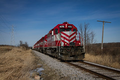 Back on Track (Nick Brown Photography) Tags: train railroad railfanning locmotovie emd sd402 wisconsin railway