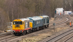 GBRf Class 20's no's 20132 & 20107 with Class 45/1 no 45118 at Clay Cross on 06-03-2018 with a move from Derby to Barrow Hill (kevaruka) Tags: claycross derbyshire class20 class45 peak choppers march 2018 winter dull dreary kevinfrost trains railway rail networkrail britishrail heritage historic colour colours flickr frontpage thephotographyblog countryside canon canoneos5dmk3 canon5dmk3 canon70200f28ismk2 5d3 5diii 5d 5dmk3 45118 england 20107